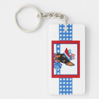 Manchester Terrier Keyring Keychain