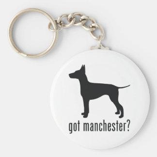 Manchester Terrier Llavero Redondo Tipo Pin