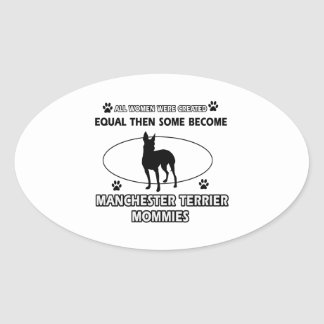 manchester terrier mommy designs oval sticker