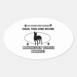 manchester terrier mommy designs oval sticker