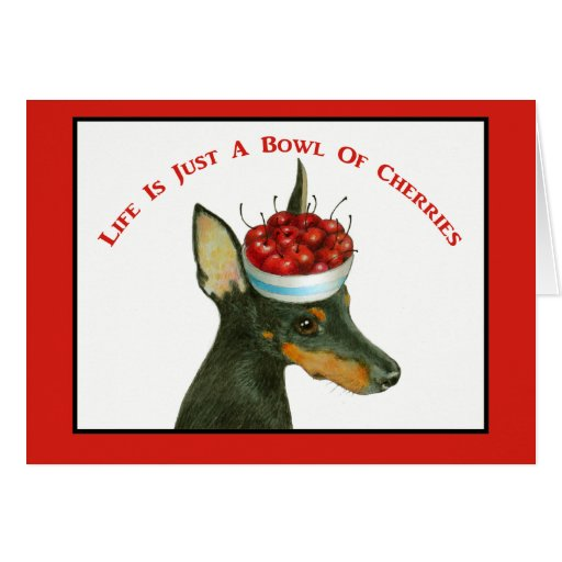 Manchester Terrier Notecard Greeting Cards