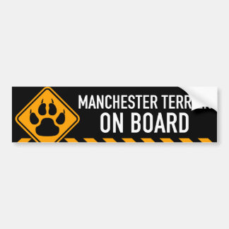 Manchester Terrier On Board Bumper Sticker