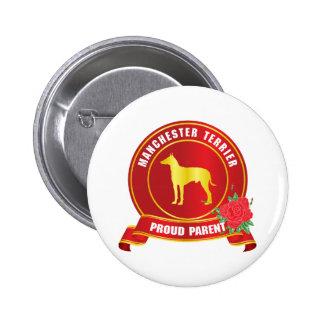 Manchester Terrier Pin Redondo De 2 Pulgadas
