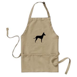 Manchester Terrier Silhouette Adult Apron