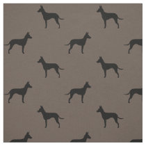Manchester Terrier Silhouettes Pattern Fabric