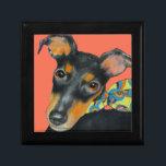 """Manchester Terrier Tile Gift Box<br><div class=""""desc"""">Original art ©WDeWitt.</div>"""