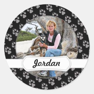 Manchester Terrier X - Jordan - Derr Classic Round Sticker