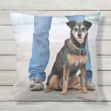 Beach Themed Manchester Terrier X - Jordan - Derr Throw Pillow