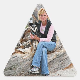 Manchester Terrier X - Jordan - Derr Triangle Sticker