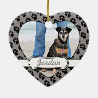 Manchester Terrier X - Jordania - Derr Adorno Navideño De Cerámica En Forma De Corazón