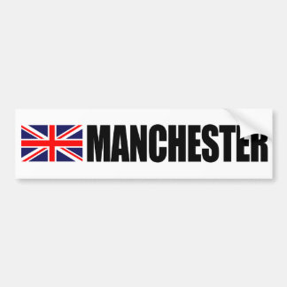 Manchester UK Flag Bumper Sticker Car Bumper Sticker