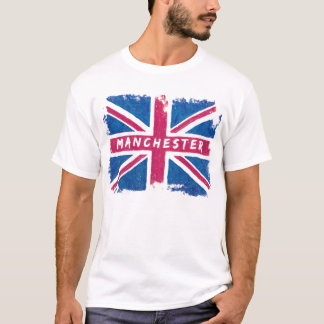 Manchester - United Kingdom Union Jack Flag T-Shirt