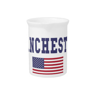 Manchester US Flag Drink Pitchers