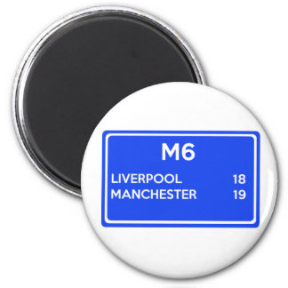 Manchester Versus Liverpool - Football Related Magnet