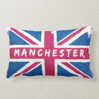 Manchester - Vintage British Union Jack Flag Throw Pillows