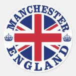 Manchester Vintage UK Design Classic Round Sticker