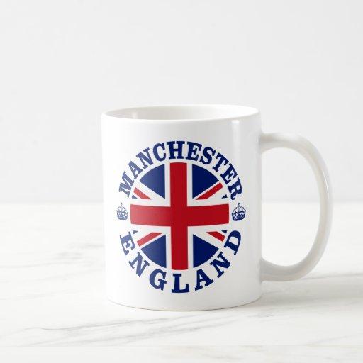 Manchester Vintage UK Design Classic White Coffee Mug
