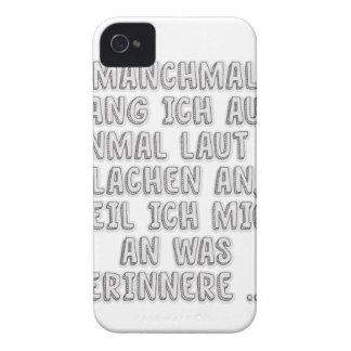 Manchmal fang ich auf einmal laut zu lachen an ... Case-Mate iPhone 4 case