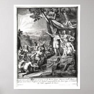Manco Capac and his wife Print