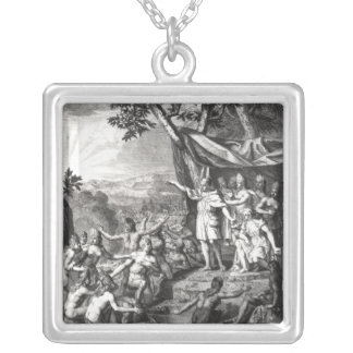 Manco Capac and his wife Silver Plated Necklace