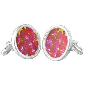 Mancuerna color de rosa del diseño del arte gemelos