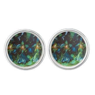 mancuerna del diseño del iris mancuernillas