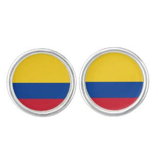Mancuernas colombianas de la bandera gemelos