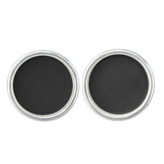 Mancuernas de encargo negras misteriosas gemelos