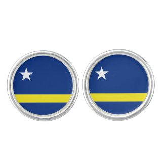 Mancuernas de la bandera de Curaçaoan Gemelos