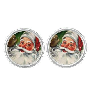 Mancuernas de Santa del vintage Mancuernillas