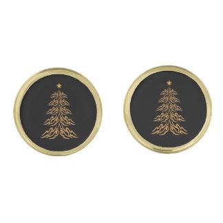Mancuernas del árbol de navidad de Bell Gemelos Dorados