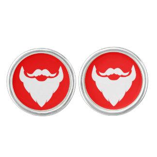 Mancuernas del bigote de la barba del navidad de S Mancuernillas