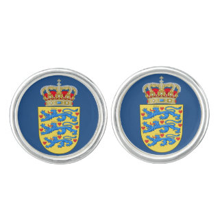 Mancuernas del escudo de armas de Denmark* Gemelos