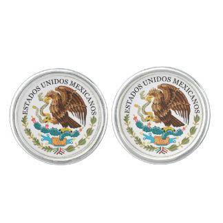 Mancuernas del escudo de armas de Mexico* Mancuernillas