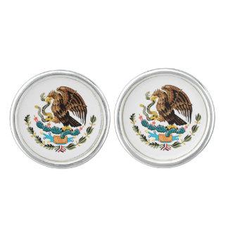 Mancuernas mexicanas del escudo de armas gemelos