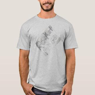 Manda Design Gray Letter T-Shirt