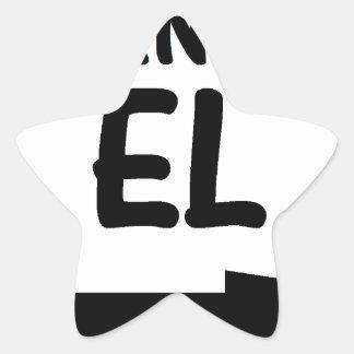 MANDA EL.png Pegatina En Forma De Estrella
