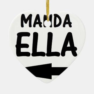 MANDA ELLA.png Adorno Navideño De Cerámica En Forma De Corazón