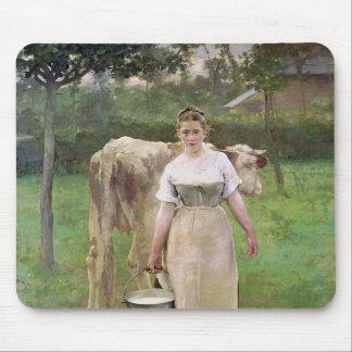 Manda Lametrie, The Farm Maid, 1887 Mouse Pad