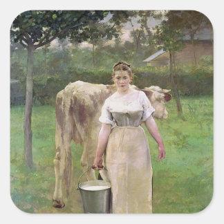 Manda Lametrie, The Farm Maid, 1887 Stickers