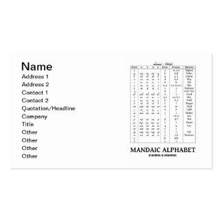 Mandaic Alphabet (Aramaic Language) Double-Sided Standard Business Cards (Pack Of 100)