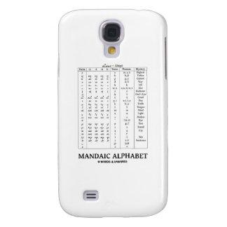 Mandaic Alphabet (Based On Aramaic Alphabet) Samsung Galaxy S4 Cases