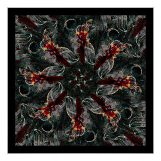 Mandala - 0026 - Many Hearted Core B Poster