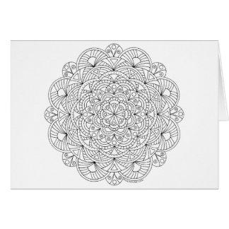 Mandala 010617 Adult Coloring Pattern Thank You Card