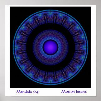 Mandala 041           ... poster
