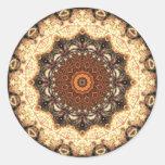 Mandala 101 Sticker Round Sticker