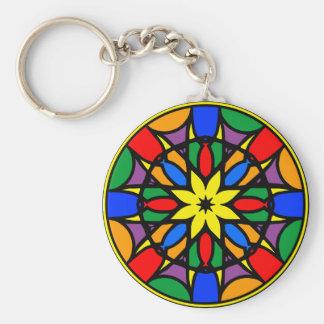 Mandala 11  dream catcher coloer version keychain
