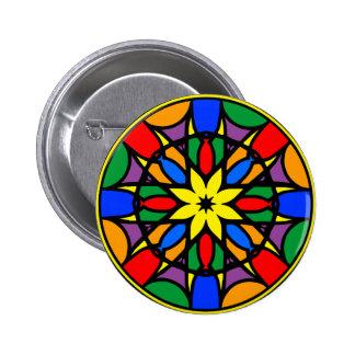 Mandala 11  dream catcher coloer version pinback button