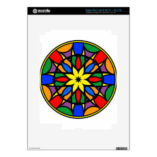 Mandala 11  dream catcher coloer version skins for iPad 3
