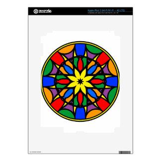 Mandala 11  dream catcher coloer version skins for iPad 3